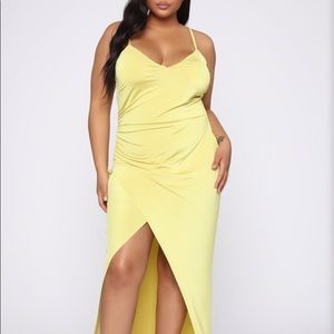 Yellow maxi dress with tags